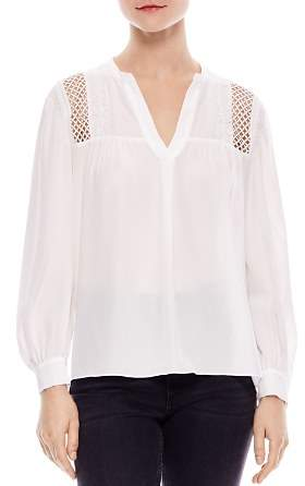 Sandro Tommy Lace-Inset Silk Top