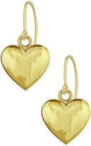 Candela 10K Yellow Gold Heart Dangle Earrings