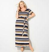 Avenue Variegated Stripe Maxi Dress