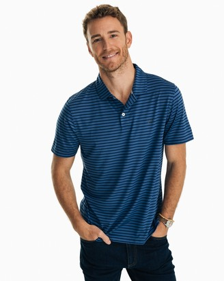 Southern Tide First Mate Striped Performance Polo Shirt