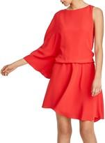 Halston One Sleeve Dress