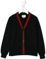 Gucci Kids - v-neck cardigan - kids - Cotton - 4 yrs