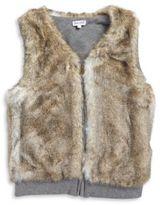 Splendid Girl's Reversible Faux Fur Vest
