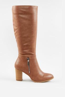 Wallis **Camel Side Zip High Leg Boot