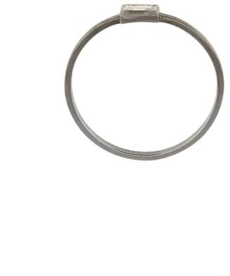 Ileana Makri 18kt white gold and diamond Baguette ring