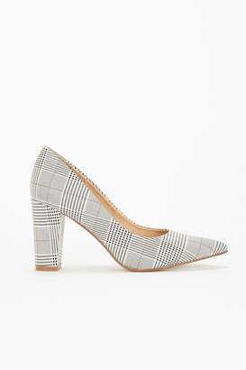 Wallis **Grey Pointed Block Heel Court