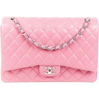 Chanel Timeless/Classique Pink Leather Handbags