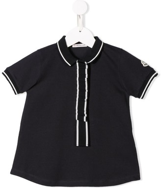 Moncler Enfant Contrast Piped Polo Shirt