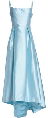 Black Halo Asymmetric Pleated Faille Gown