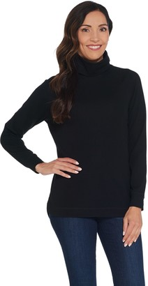 Isaac Mizrahi Live! SOHO Long Sleeve Hi-Low Hem Turtleneck