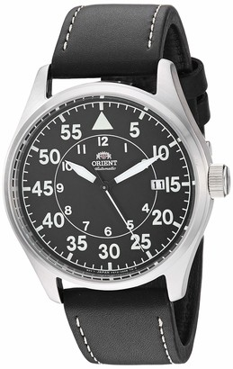 Orient Men's Stainless Steel Japanese Automatic Sport Watch with Leather Strap