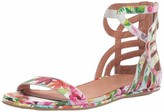 Gentle Souls by Kenneth Cole Women's Larisa Flat Sandal with Gladiator Ankle Straps Sandal
