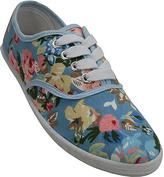 Sky Blue Floral Print Sneaker