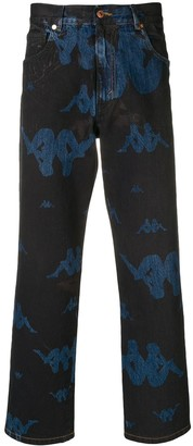 Paura X KAPPA print jeans