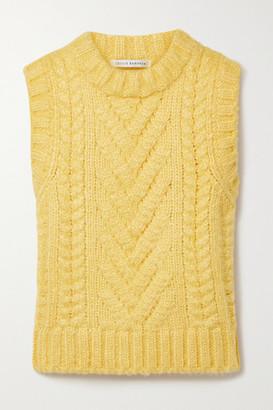 Cecilie Bahnsen Frida Cable-knit Silk Tank