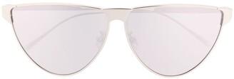 Bottega Veneta Metallic Round Frame Sunglasses
