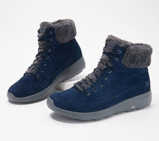 Skechers On-the-Go Water Resistent Suede Boots - Winter Chill