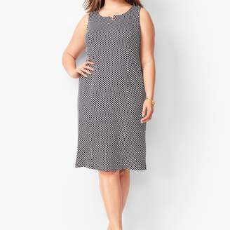 Talbots Refined Ponte Knit Sheath Dress - Honeycomb Print