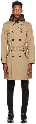 Coach 1941 Beige and Khaki Utility Trench Coat