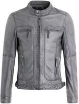Oakwood Casey Leather Jacket Grey