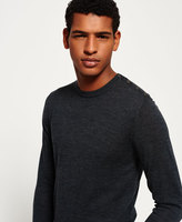 Superdry Call Sheet Merino Button Crew Neck Jumper