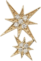 Sydney Evan Double Starburst Diamond Stud Single Earring