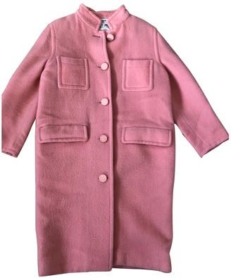 Courreges Pink Wool Coat for Women Vintage