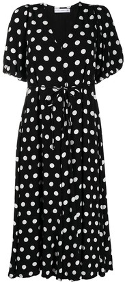 Faithfull The Brand Polka-Dot Mid-Length Dress