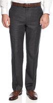 Lauren Ralph Lauren Solid Charcoal Classic-Fit Dress Pants