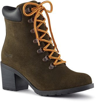 Cougar Angie Lace-Up Suede Booties