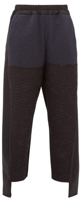 By Walid Sally Floral-embroidered Trousers - Womens - Black