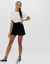 Asos DESIGN shorts with paperbag waist and tie