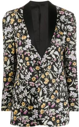 R 13 Floral-Print Blazer