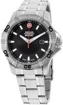 Wenger Men's 44mm Steel Bracelet & Case Quartz Dial Watch 01.1241.201c