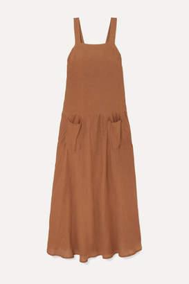 Matin MATIN - Linen Maxi Dress - Brown