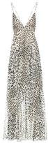 Roberto Cavalli Leopard-printed silk dress