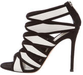 Gianvito Rossi Leather Caged Booties