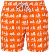 Capricode stone print swim shorts