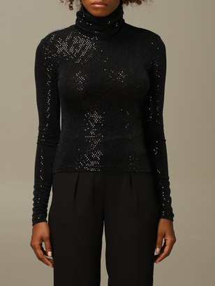 Just Cavalli Sweater Jersey Pullover With All-over Micro Mirrors