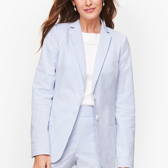 Talbots Seersucker Two Button Blazer