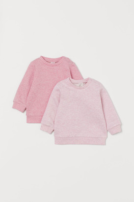 H&M 2-pack Cotton Sweatshirts - Pink