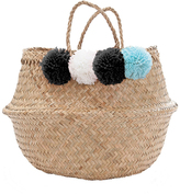 Marie Chantal Pom Pom Woven Bag