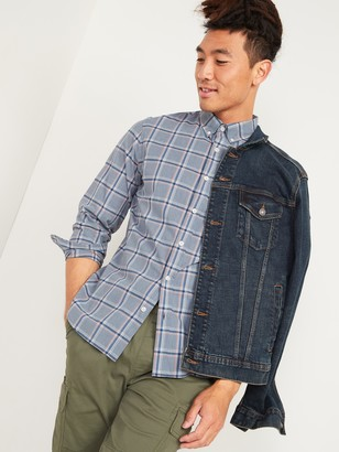 Old Navy Slim-Fit Built-In Flex Plaid Everyday Shirt for Men