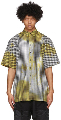 Ottolinger Black and Yellow Gingham Oversized Shirt