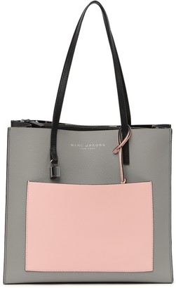 Marc Jacobs Grind Colorblock Leather Tote Bag