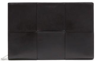 Bottega Veneta Intrecciato Leather Document Case - Black