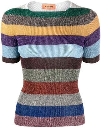 Missoni Metallic Striped Knit Top