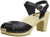 Swedish Hasbeens Women's Peep Toe Super High Platform Sandal