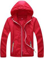 Zity Super Lightweight Jacket Quick Dry Windbreaker UV Protect Coat US M/Label XL