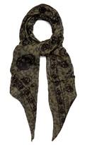 Alexander Mcqueen Skull-print Cotton-blend Scarf